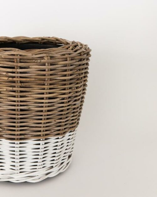 Colorblocked Woven Planter