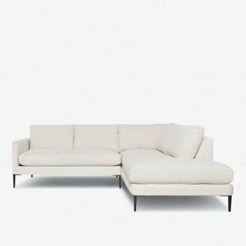 Allisen Right-Facing Bumper Sectional Sofa, Sand