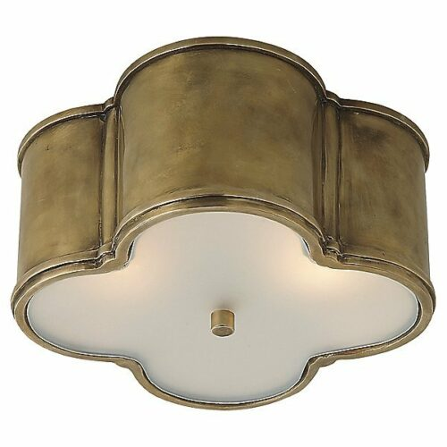 Basil Flush Mount Ceiling Light by Visual Comfort - Color: Natural Brass - Finish: Natural Brass - (AH 4014NB-FG)