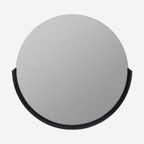 Coralie Round Mirror, Black
