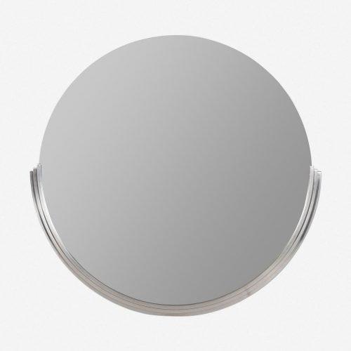 Coralie Round Mirror, Silver
