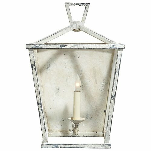 Darlana Wall Sconce by Visual Comfort - Color: White - Finish: Old White - (CHD 2165OW)