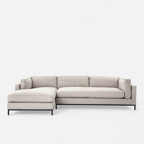 Fritzie Left-Facing Sectional Sofa, Natural