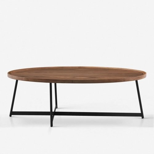 Gweneth Oval Coffee Table, Walnut