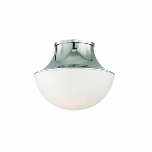 Hudson Valley Lighting Lettie 10 Inch 1 Light LED Flush Mount Lettie - 9411-PN - Transitional