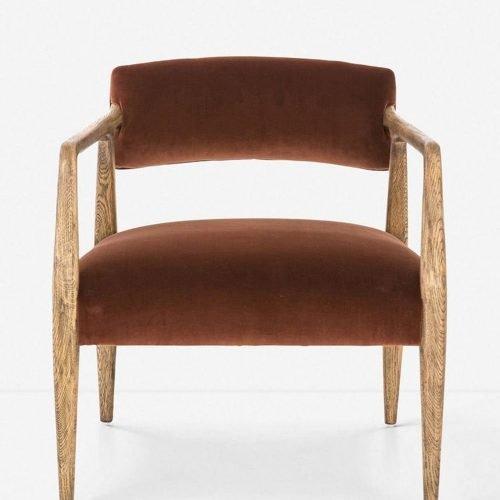 Larabee Accent Chair, Burnt Auburn