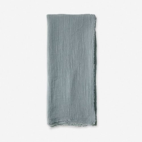 Pom Pom at Home Venice Throw, Dusty Blue