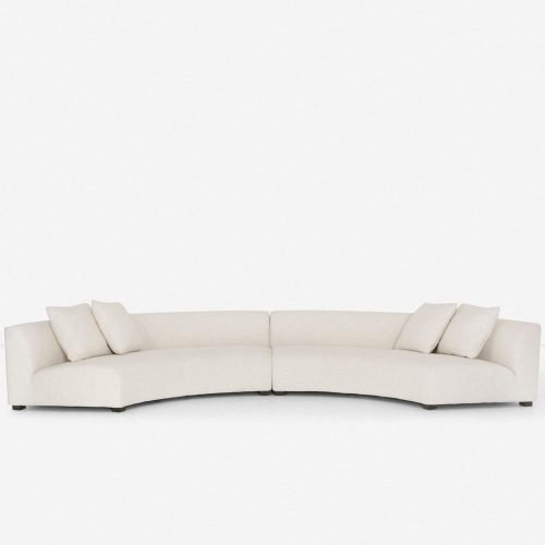 Saban 2-Piece Curved Sectional Sofa