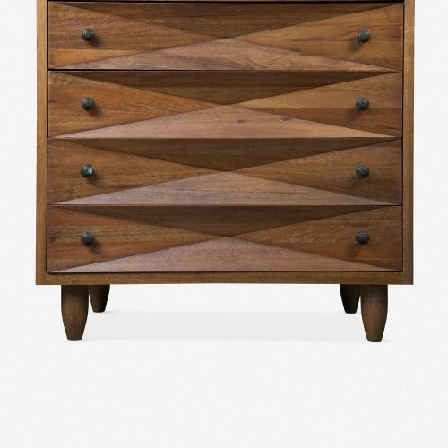 Sen 4-Drawer Dresser, Dark Walnut