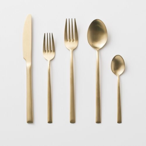Elevated Flatware - Matte Gold