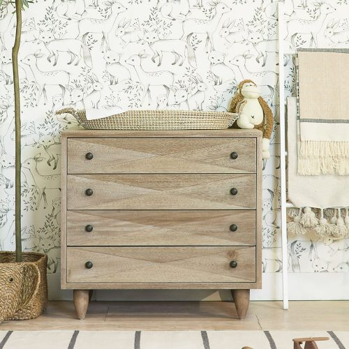 Sen 4-Drawer Dresser, Walnut