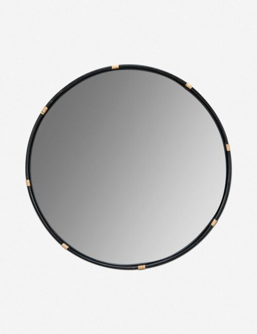 Adaline Round Mirror, Black