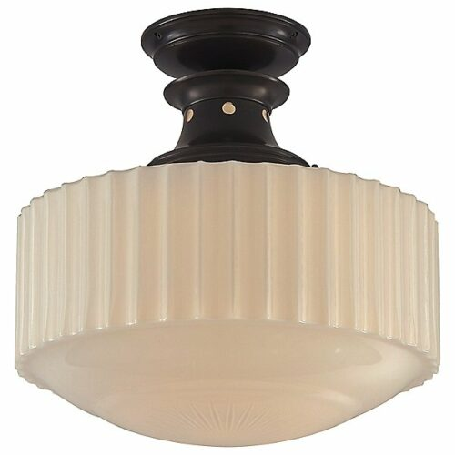 Milton Road Convertible Flush Mount Ceiling Light by Visual Comfort - Color: White - Finish: Bronze - (TOB 5150BZ-WG)